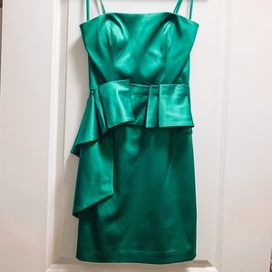BCBG max and cleo emerald green strapless dress